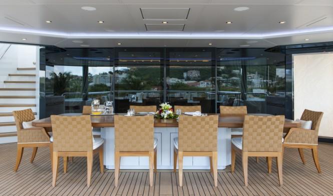 Superyacht ESTER III - Bridge Deck aft - Photo by Klaus Jordan