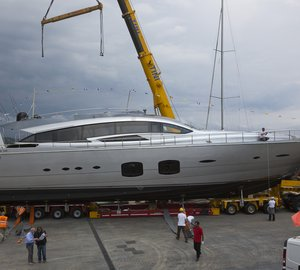 All-new Pershing 108 Motor Yacht Hull #3 Launched
