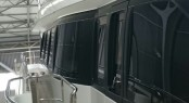 Window mullions of the 37m Moonen Super Yacht CRYSTAL wrapped in 3M 1080 Satin Black.