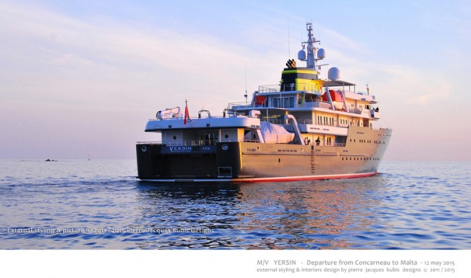 YERSIN superyacht - aft view