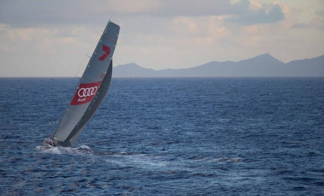 •Hawaii in sight Wild Oats XI heads for Honolulu and the finish in the Transpac Race 2015. (Image credit Sharon GreenUltimate Sailing)