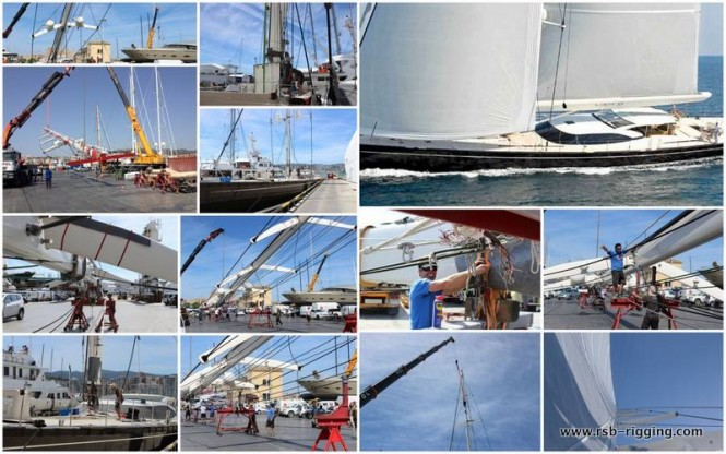 45m Vitters Sailing Yacht LADY B completes full rigging program with RSB Rigging Solutions - Image credit to RSB Rigging Solutions