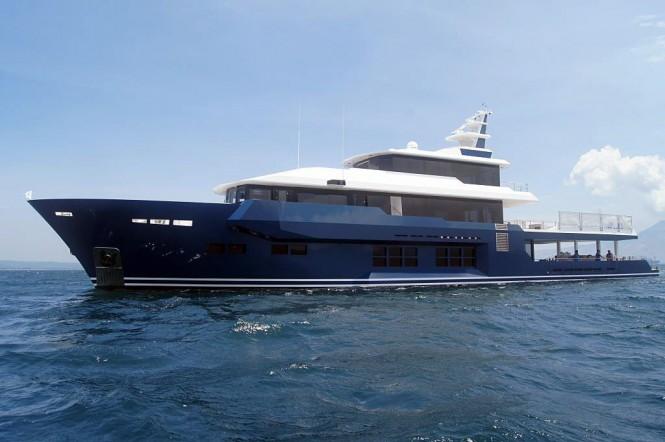 45m explorer yacht CKLASS under sea trials