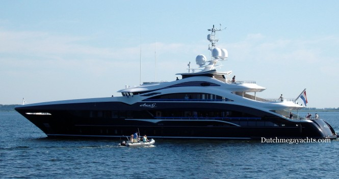 50m Heesen superyacht ANN G (YN 17350) in Hellevoetsluis - Photo by Dutchmegayachts