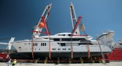 63m Sunrise Superyacht IRIMARI (hull 632) at launch