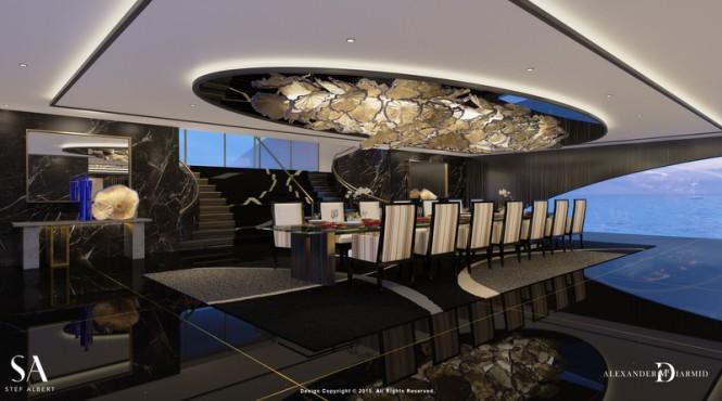 87m mega yacht IWANA - Interior by Alex McDiarmid and Stef-Albert