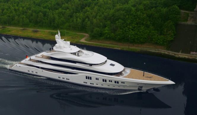 91m LURSSEN super yacht ORCHID under sea trial - Photo by Carl Groll