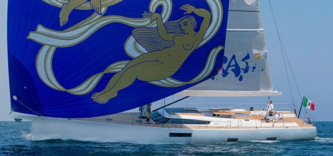 Advanced A80 superyacht APSARAS under sail