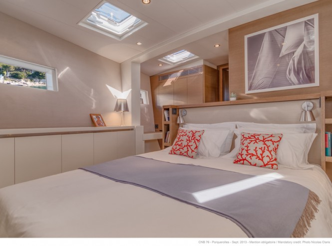 CNB 76 LEO Yacht - Owners Cabin - Photo by Nicolas Claris