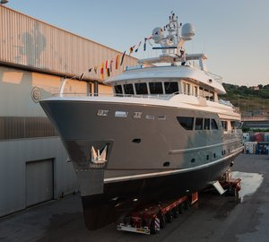 All-New Darwin Class 107 Explorer Motor Yacht STORM splashes at Cantiere delle Marche