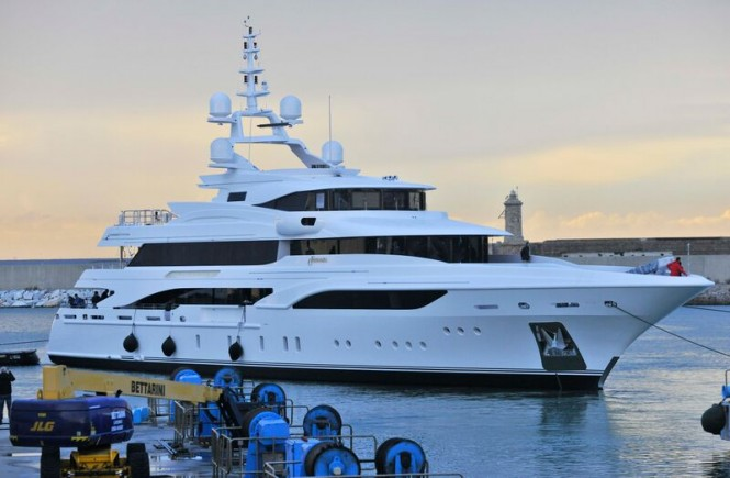FB255 superyacht FORMOSA at launch