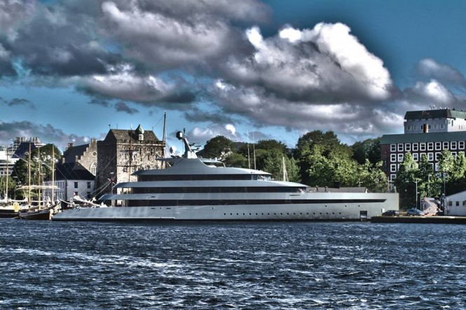 FEADSHIP mega yacht SAVANNAH (hull 686) in Bergen, Norway - Photo by Feadship Fanclub and Eirikj
