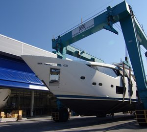 Eagerly Awaited Launch of First Custom Line 108' Yacht