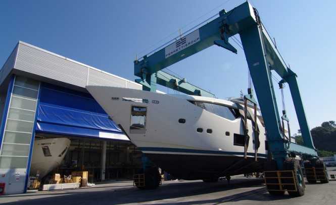 First Custom Line 108' Yacht at launch