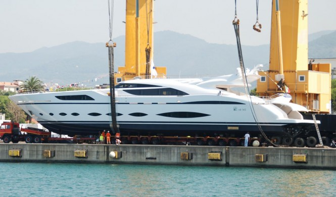 First Superyacht AB 145 by AB Yachts at launch