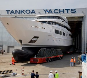 Successful Launch of First TANKOA S693 Motor Yacht SUERTE