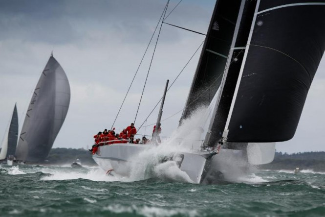 George David's 88ft maxi yacht Rambler 88 sped through the entire fleet in the race on Day 2 - Photo by Paul Wyeth pwpictures.com