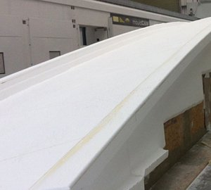 Hull tooling of First Superyacht OYSTER 118 taking shape