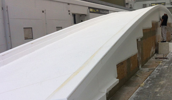 Hull tooling of superyacht Oyster 118-001 underway - Image by Oyster Yachts