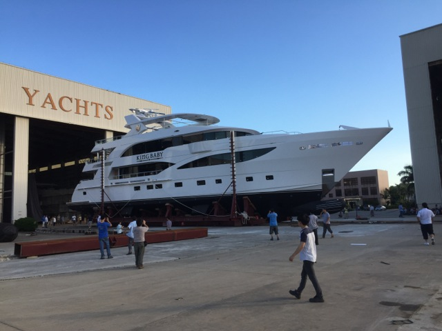 IAG motor yacht KING BABY with doors by Allu.fer Tempesta at launch