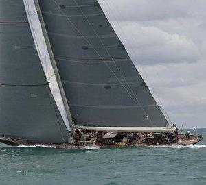 Majestic J Class Sailing Yacht VELSHEDA wins class in Royal Yacht Squadron's Bicentenary International Regatta's Race Around the Island