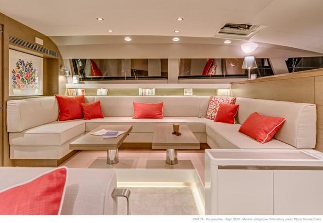 LEO Yacht - Saloon - Photo by Nicolas Claris