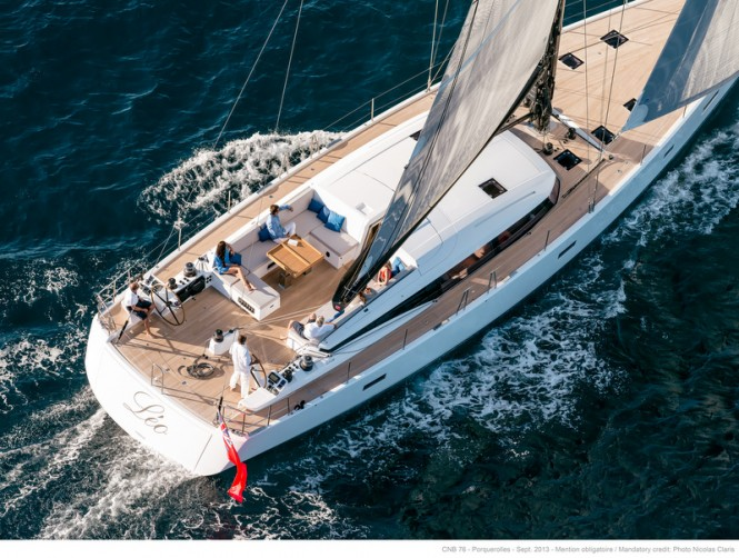 LEO Yacht from above - Photo by Nicolas Claris