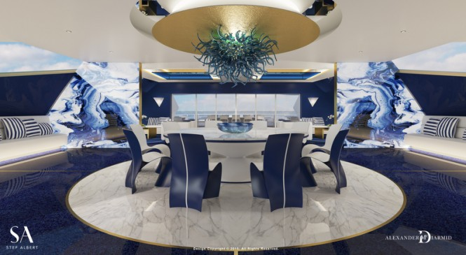 Luxury motor yacht IWANA - Owners Deck Dining
