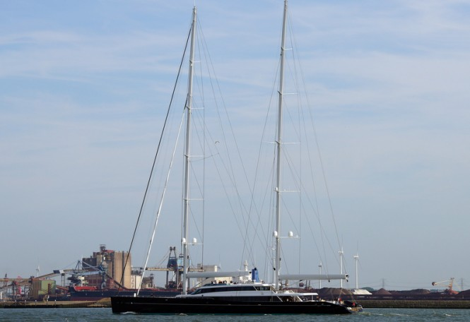 Luxury sailing yacht AQUIJO - Photo by Kees Torn