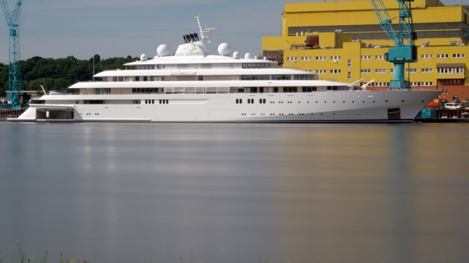 Luxury superyacht GOLDEN ODYSSEY nearing delivery at LURSSEN - Photo by DrDuu