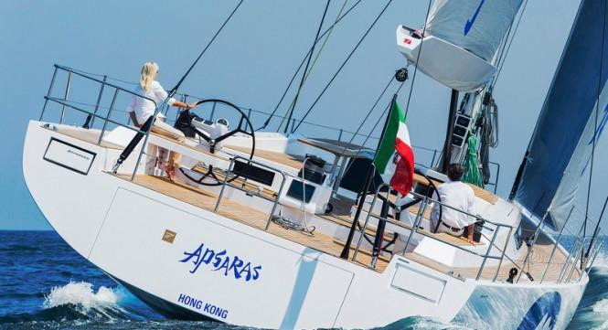 Luxury yacht APSARAS - aft view