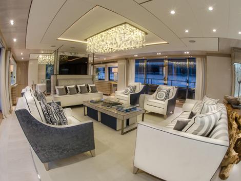 Luxury yacht THUMPHER - Saloon