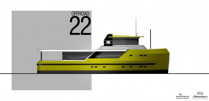 New 22m motor yacht OFFROAD 22 by Steeler and Vripack