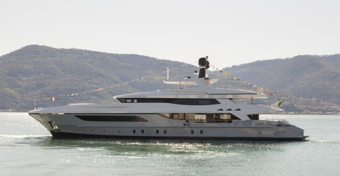 New Baglietto 46m super yacht Hull no. 217 at launch