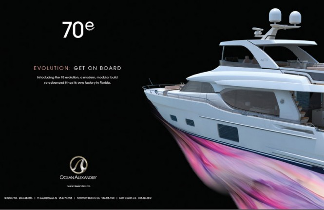 New Motor Yacht 70E – First Evolution Series Yacht by Ocean Alexander