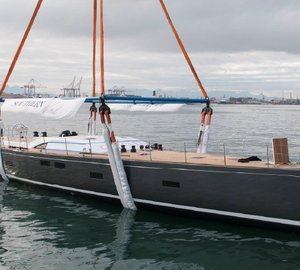 Fourth SW102 Sailing Yacht SEAWAVE splashes at Southern Wind Shipyard