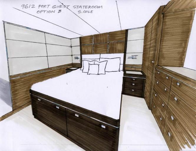 Nordhavn 96' super yacht N9612 - Port Guest Stateroom
