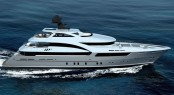 Rendering of the new Sarp 46m Yacht by Sarp Yacht