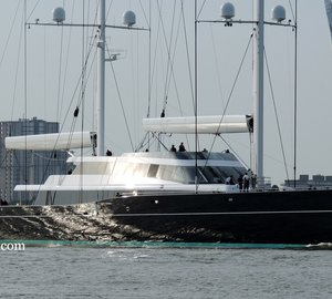 Mighty 85m Oceanco/Vitters Super Yacht AQUIJO underway