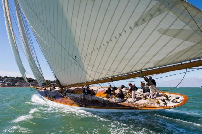 Sailing yacht Mariquita at the 2015 Panerai British Classic Week - Photo by Guido Cantini Panerai Sea&See.com