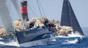 Sir Lindsay Owen Jones' superyacht MAGIC CARPET CUBED (GBR) rounding Mortoriotto - Image by Rolex Carlo Borlenghi
