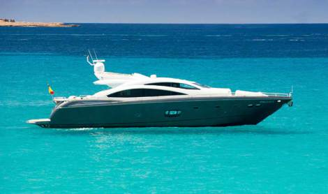 Sunseeker Predator 84 Yacht in the lovely Ibiza yacht rental location