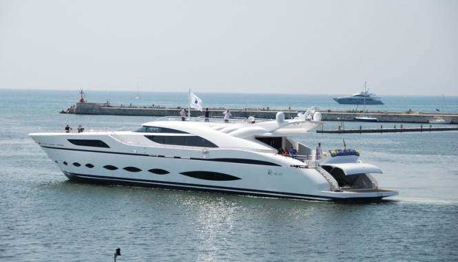 Super yacht AB 145 - aft view