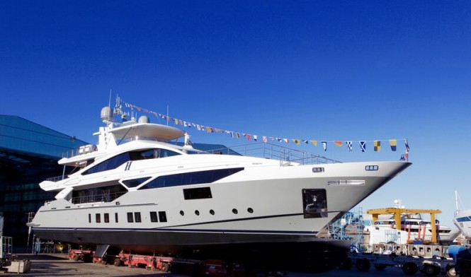 Superyacht H at launch