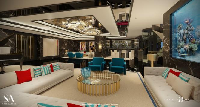 Superyacht IWANA - Lounge Bar