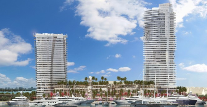 Rendering of The Deep Harbour at Island Gardens in the lovely Miami yacht holiday location, nestled in Florida