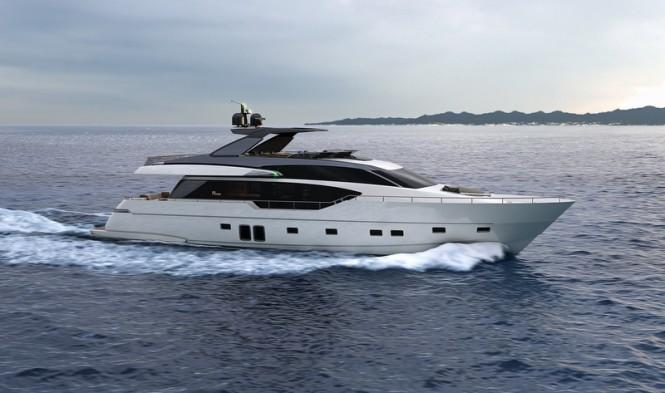 Sanlorenzo SL86 Yacht underway