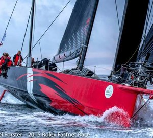 Monohull-Line Honours for 100ft Hodgdon Supermaxi Yacht COMANCHE at 2015 Rolex Fastnet Race