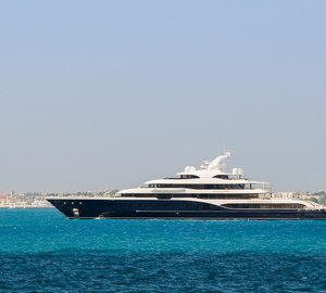 FEADSHIP Mega Yacht SYMPHONY and Superyacht SAVANNAH spotted in Antibes
