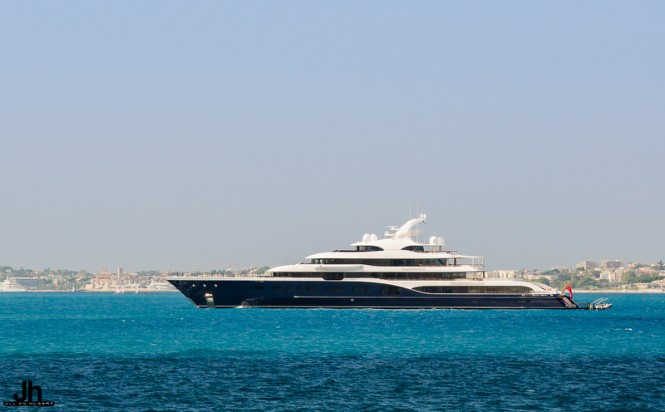 101,5m FEADSHIP Mega Yacht SYMPHONY (hull 808) in Antibes - Photo by Julien Hubert